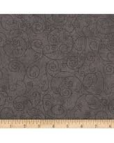 Westrade Collections black on gray flannel 108