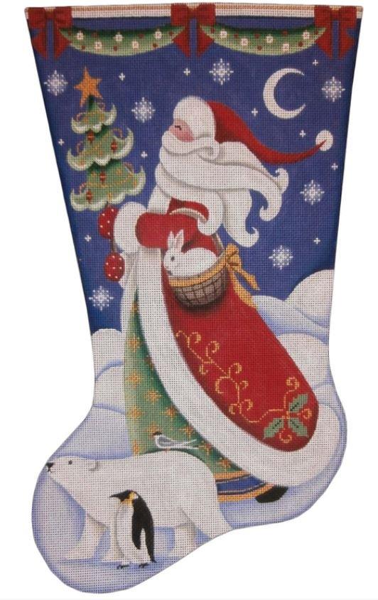 Polar Santa Stocking