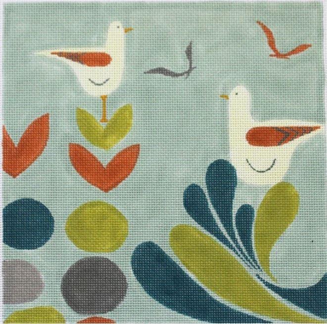 Mid-Century Sea Birds