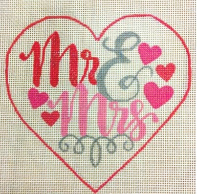 Mr. & Mrs. Heart - Red and Pink