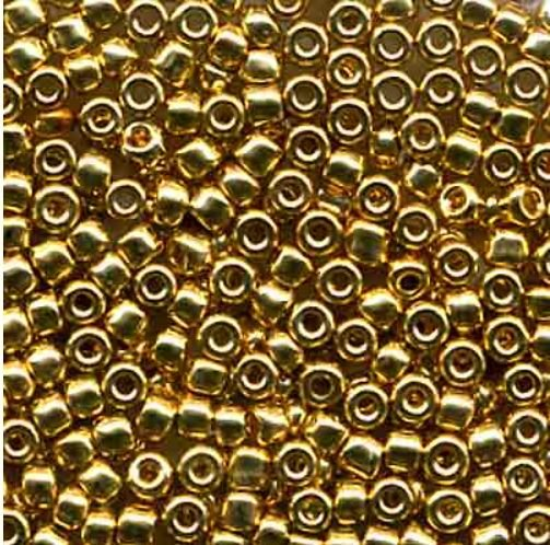 24 Carat Gold Plated Beads - Size 11