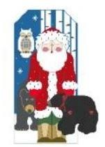 Woodland Large Stand-Up Santa