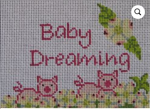 Baby Dreaming Sign with Little Piglets