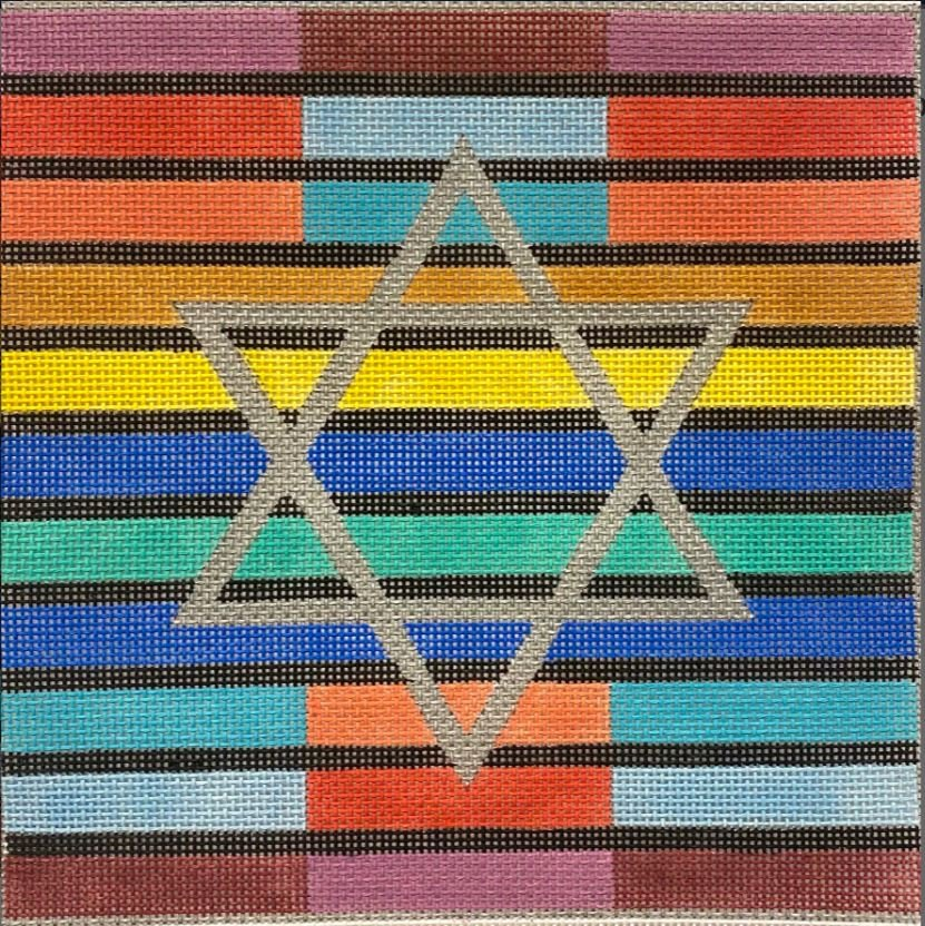 Multicolor Stripes Single Star Teffillin