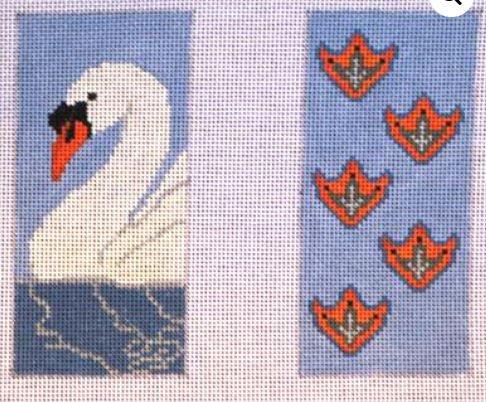 Swan and Swanprints Eye Glasses Case