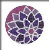 Graphic Flower Round, Purple