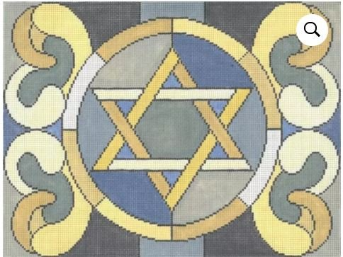Stained Glass Circle Star Grey Tallis