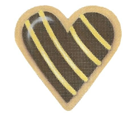 Chocolate Striped Heart Cookie