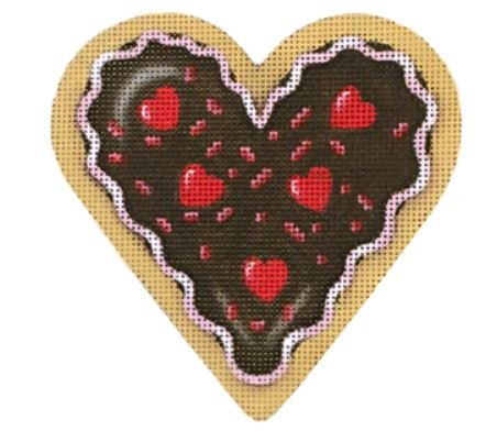 Red Hot Chocolate Heart Candy Cookie