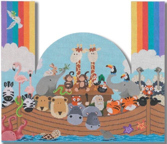 Noah's Ark Door Stop Canvas