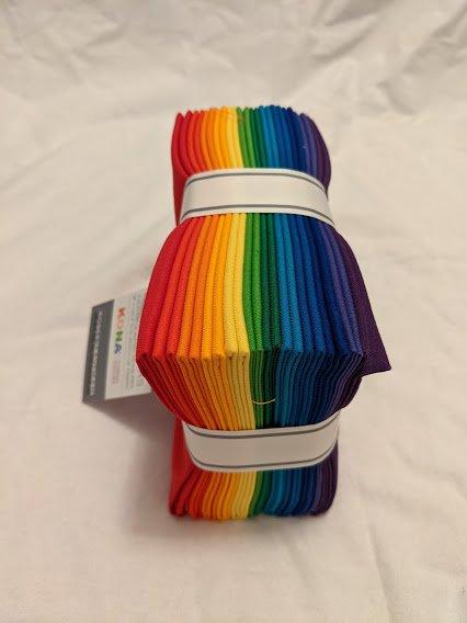 FQ Bundles: Kona Cotton - Bright Rainbow Palette