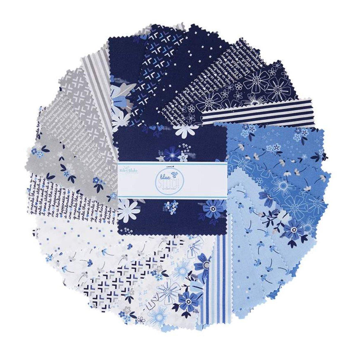 Blue Stitch 5in Squares, 42pcs