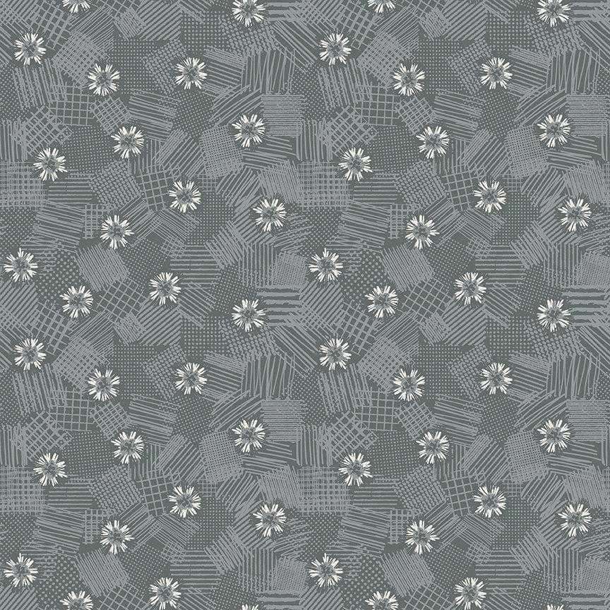 Meadow Lane Scribbled Floral Gray