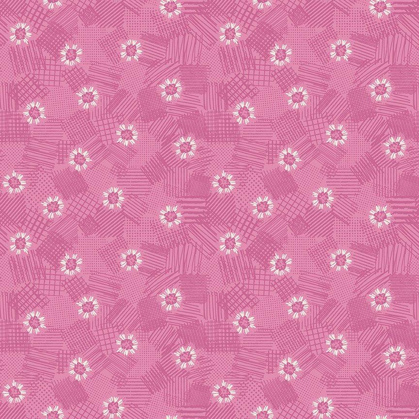 Meadow Lane Scribbled Floral Pink