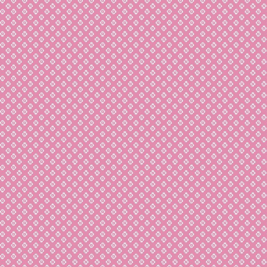 Meadow Lane Dashed Daisies Pink