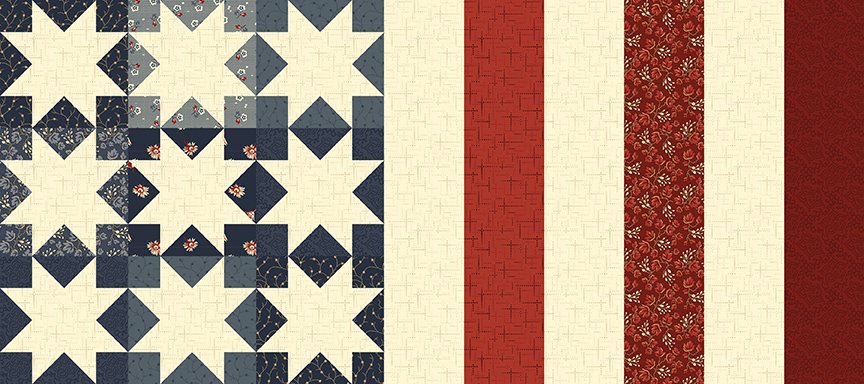 Nine Star Flag Table Runner Pattern