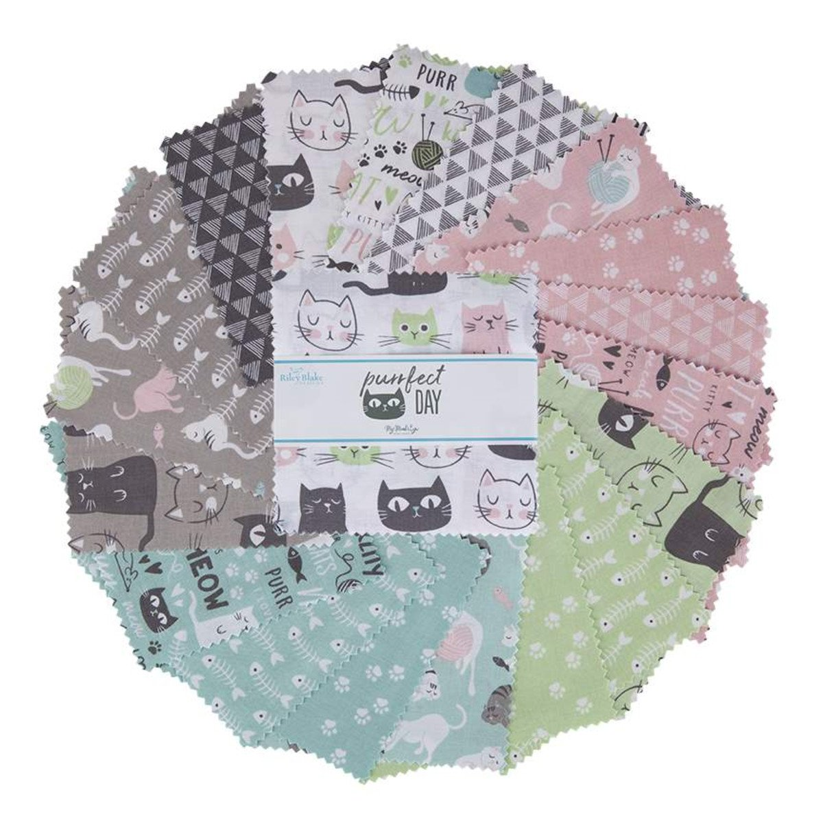 5in Squares Purrfect Day, 42pcs