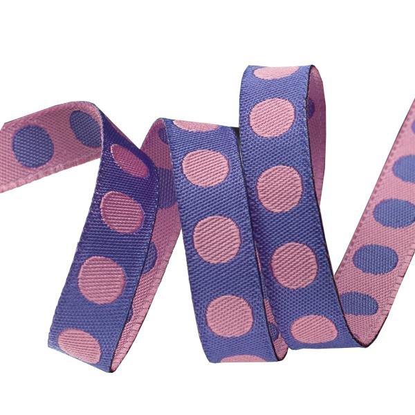 Tula Pink Ribbon Pompom Poppy 3/8 wide