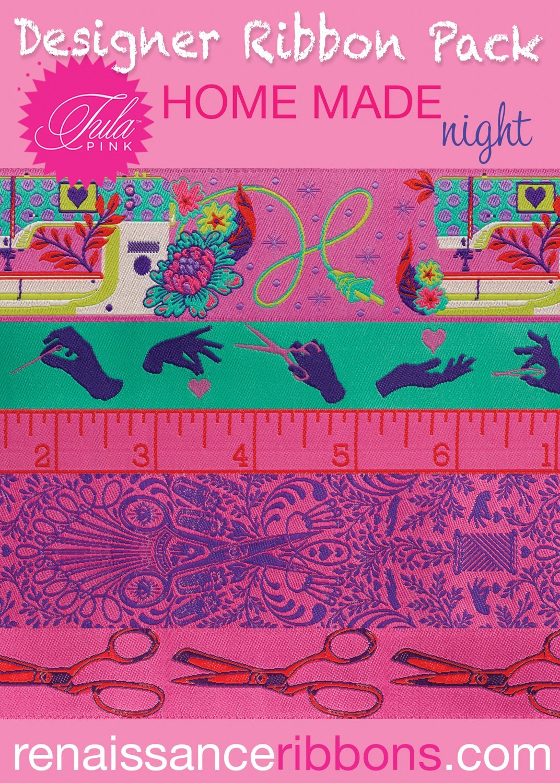 Tula Pink Home Made Night Designer Ribbon Pack