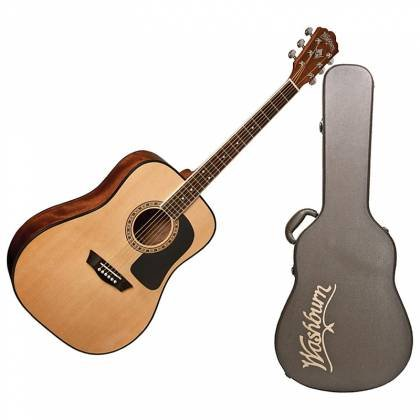 Washburn AD5K-A Apprentice 5 6-String RH Natural Dreadnought Acoustic Guitar with Hard Case