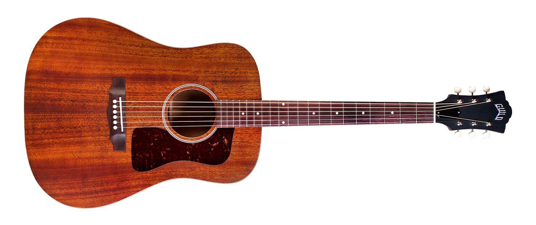 Guild USA D-20 Mahogany Dreadnought Acoustic Guitar w/Hard Case