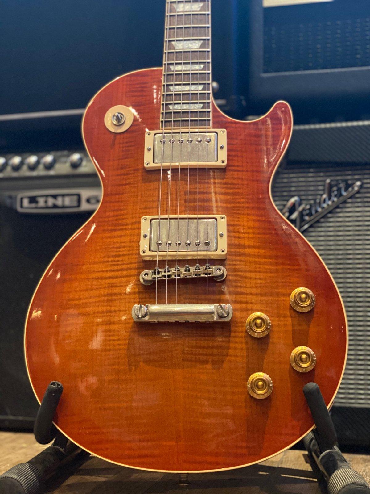 Gibson Les Paul Custom Shop 2002 Class 5 Sienna AAAAA Flame top