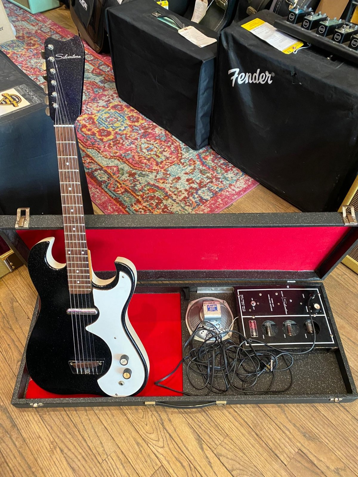 1960's Silvertone Electric Guitar with Amp In Case