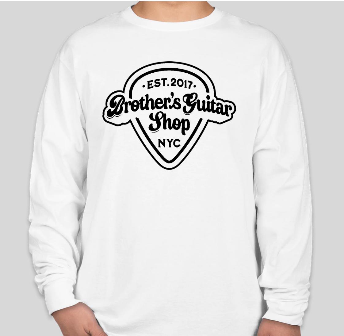Brothers Logo T-Shirt Long White