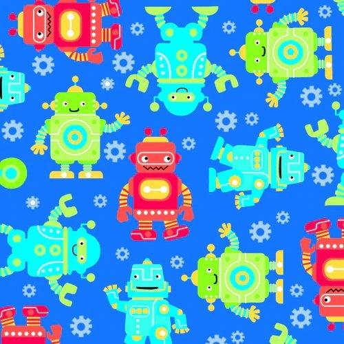 0973-77 Robot Flannel