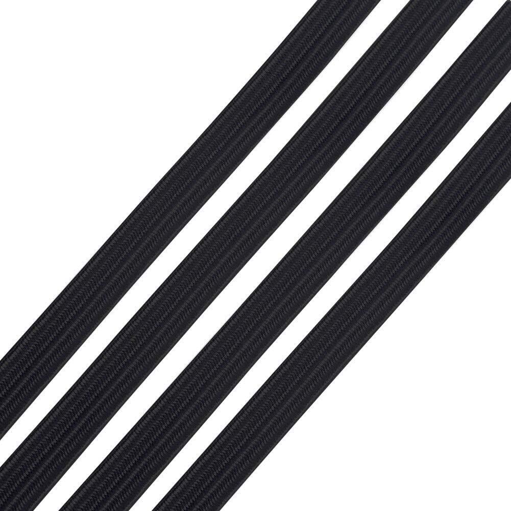 Elastic 1/4 Flat Black