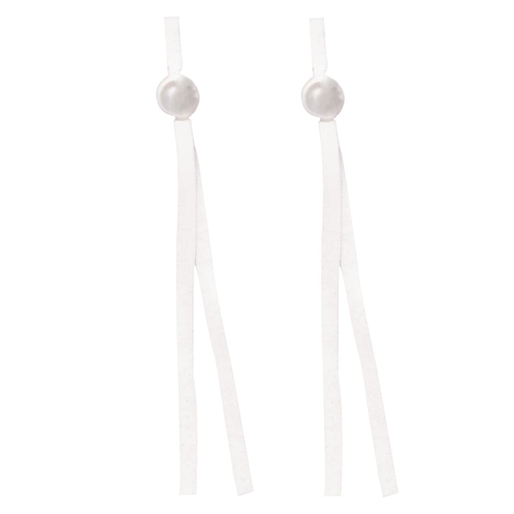 Drawstring Mask White 8in 10ct