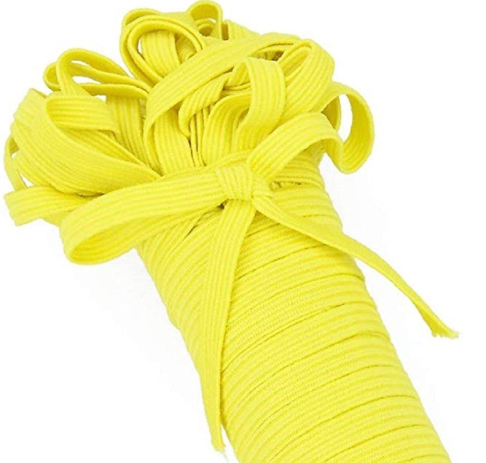 Elastic 1/4 Flat Yellow