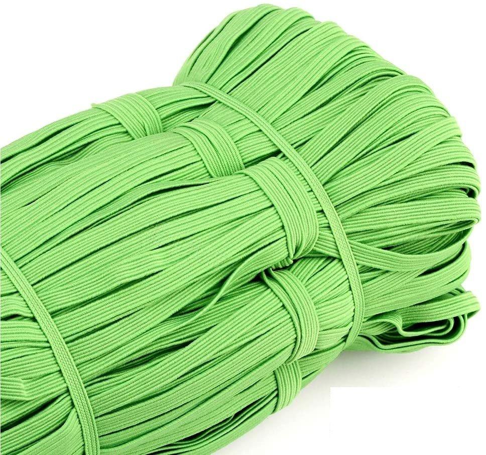 Elastic 1/4 Flat Lime Green
