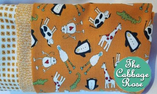 Pillowcase kit - Animal Crackers Orange
