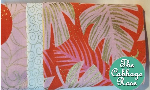Pillowcase kit - Orange & Pink Palms