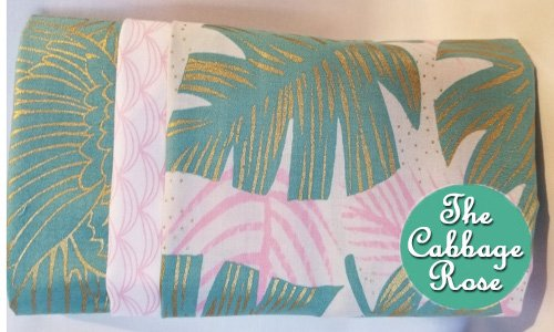 Pillowcase kit - Gray & Pink Palms
