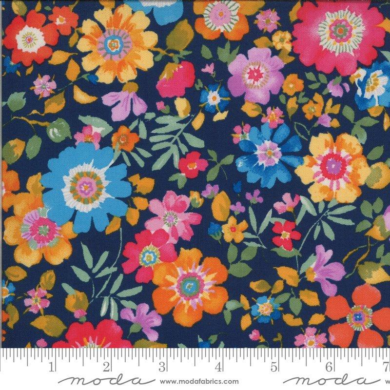Lulu - Flower Garden - Navy