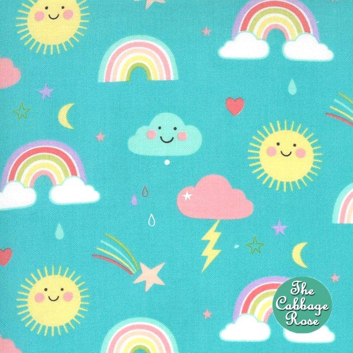 Hello Sunshine Rainbows - Aqua