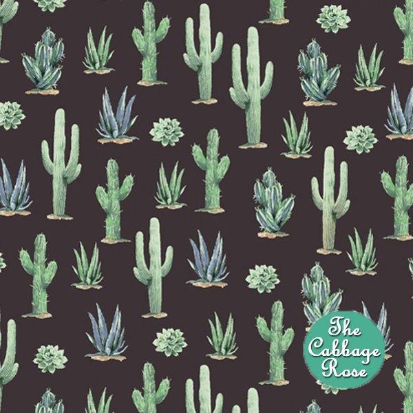 Desert Cowboy - Cacti on Black