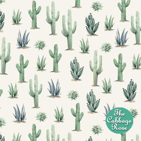 Desert Cowboy - Cacti on White