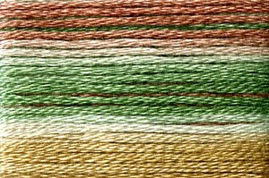 Cosmo Seasons Variegated Embroidery Floss Brown/Green/Gold
