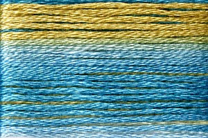 Cosmo Seasons Variegated Embroidery Floss Blues/Tans