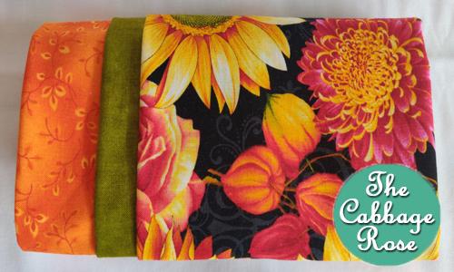 Pillowcase kit - Fall Flowers & Pumpkins