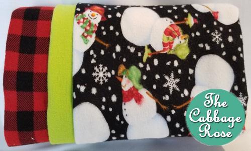 Pillowcase kit - Flannel Snowmen