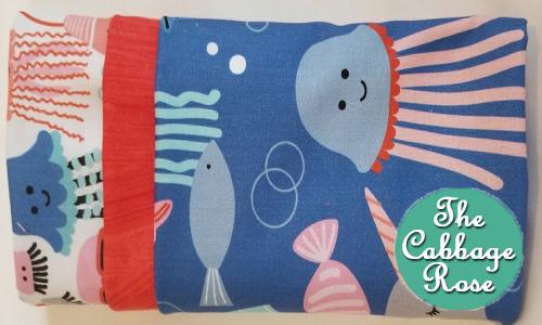 Pillowcase kit - Deep Blue Sea Friends