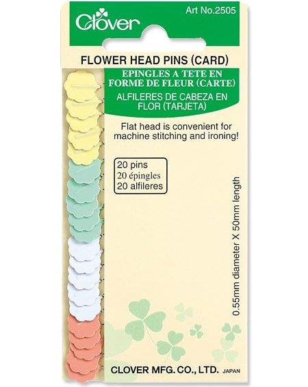 Clover Flower Head Pins (Card)