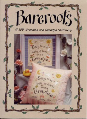 Bareroots - Grandpa and Grandma Stitchery