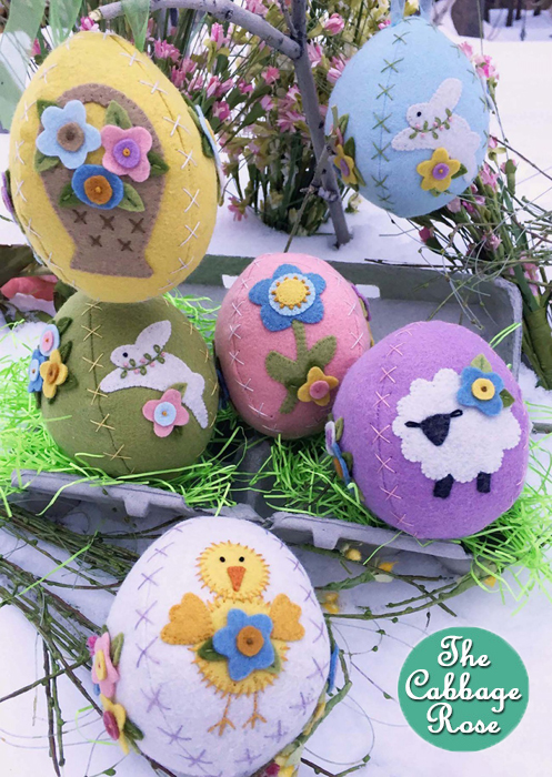 Sweet Stitched Easter Eggs Wool