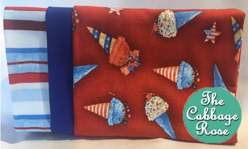 Pillowcase kit - Patriotic Cones