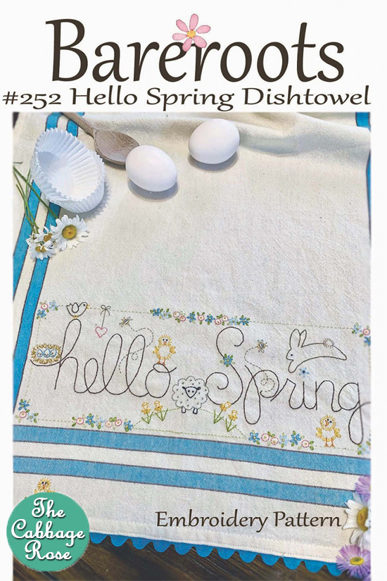 Hello Spring Embroidered